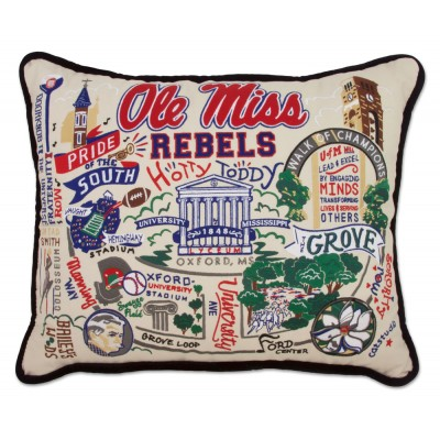 $236.00 Ole Miss Embroidered Pillow