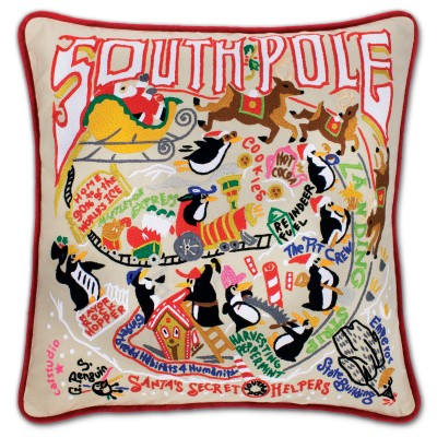 $185.00 South Pole Hand-Embroidered Pillow