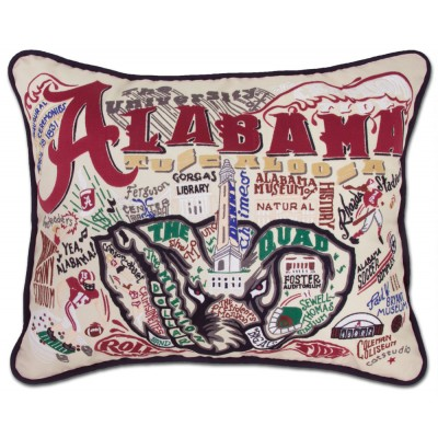 $236.00 University of Alabama Embroidered Pillow