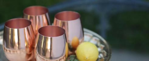 Napa Home & Garden   Copper Stemless Wine Glass $25.00