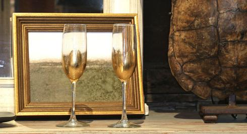 ELM Designs   Gold Leaf Champagne $25.00