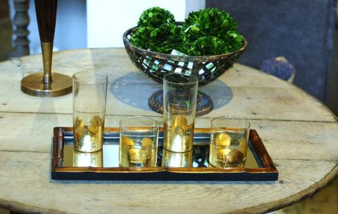 ELM Designs   Gold Leaf Highball $25.00