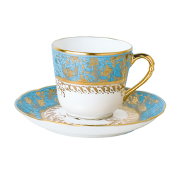 Bernardaud  Eden Turquoise Coffee Cup $170.00