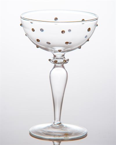 $17.00 Gatsby Champagne Coupe, Gold Dots