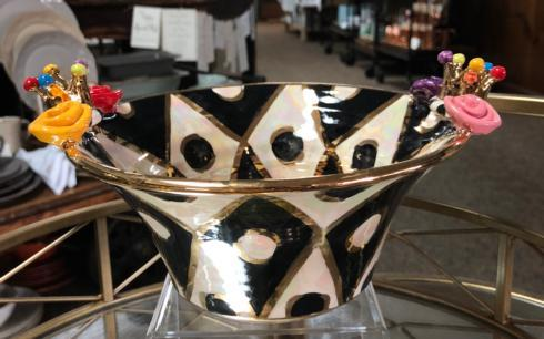 $160.00 Small Crown Edged Serving Bowl