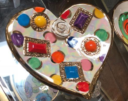 $70.00 Small Jeweled Coloured Dots Soap Dish