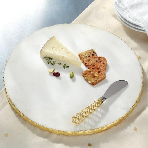 Generations Exclusives  Marble Round Marble Edge Cheeseboard Set $40.00