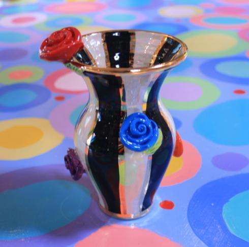 Tiny Rose Studded Vase Black Stripe collection with 1 products