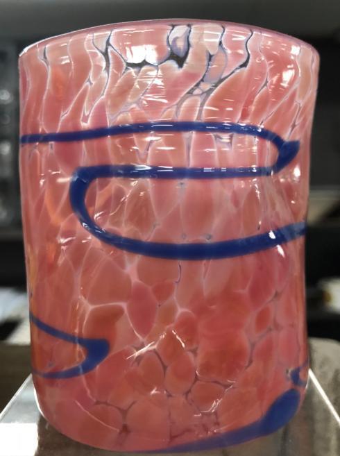$46.00 Wonkie Ware Juice Glass- Pink/Blue