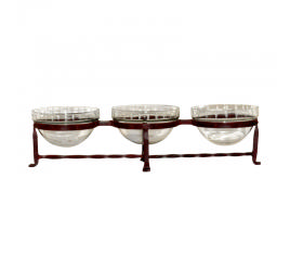 $45.00 Iron and Glass Triple Server