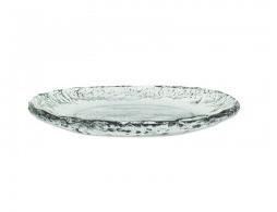 Pomeroy   Ruffle Glass Round Tray $40.00