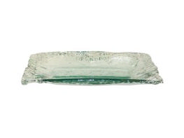 Pomeroy   Ruffle Glass Medium Rectangle Tray $45.00