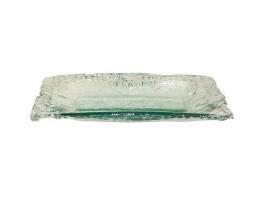 $45.00 Ruffle Glass Medium Rectangle Tray