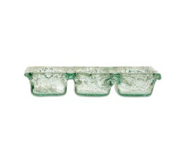 Pomeroy   Ruffle Glass Triple Server $32.00