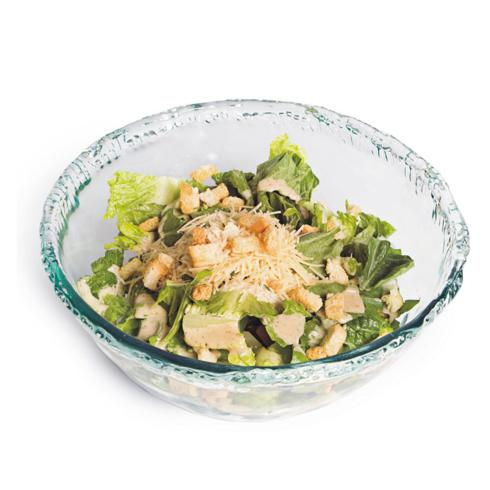 $60.00 Ruffle Glass Large Salad Bowl