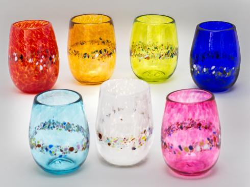 Multicolored Stemless Wine Glasses collection with 1 products