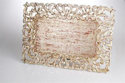 $46.00 Vendome Rectangular Placemat, Silver Finish