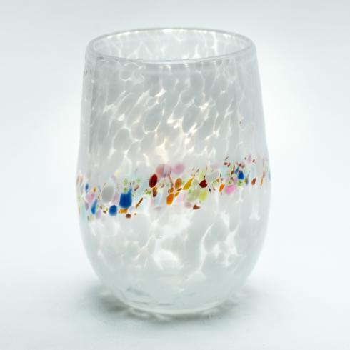 Pean Doubulyu   White Stemless Wine Glass $35.00