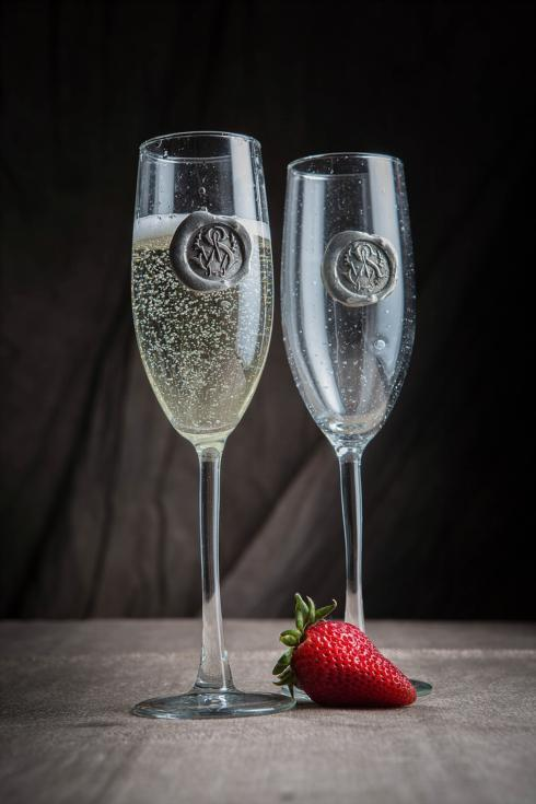 $36.00 Mr. and Mrs. Champagne Flute Set