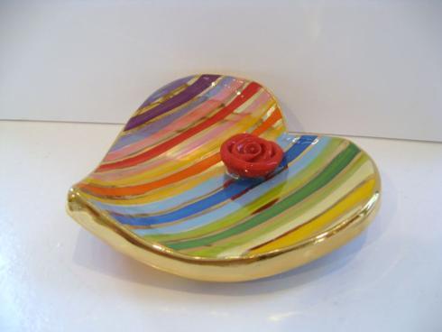 $96.00 Colorful Stripe Large Soap Dish