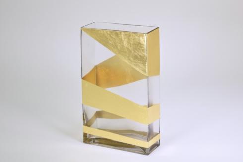 Tamara Childs   10 inch Gold Vase $81.00