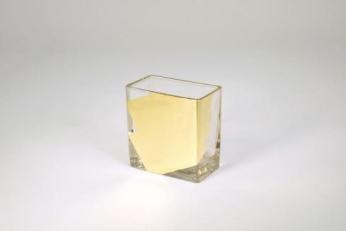 Tamara Childs   4 inch Gold Vase $35.00