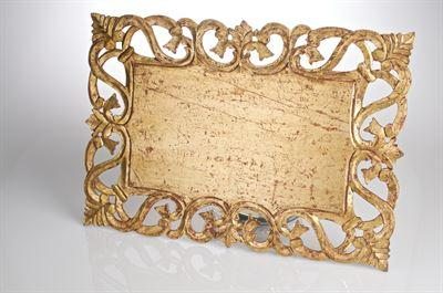 $46.00 Vendome Rectangular Placemat, Gold Finish