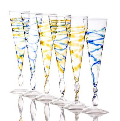 $22.00 Champagne Flute, Rialto Spiral