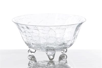 $74.00 Classic Glass Salad Bowl, Crackle Glass