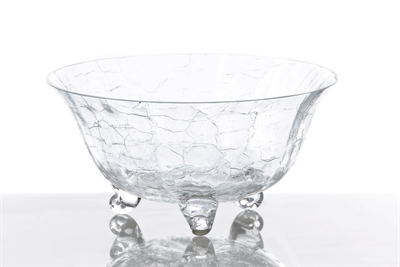 $74.00 Classic Glass Salad Bowl, Crackle Glass
