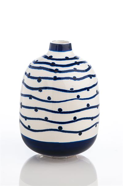 Navy Wave withe Dots Vase collection with 1 products