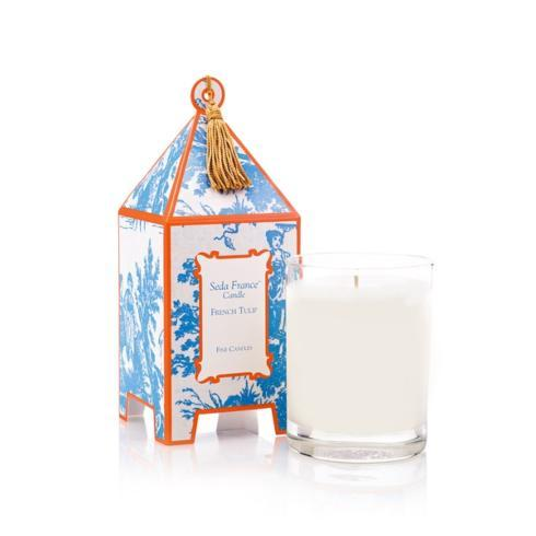 French Tulip Classic Toile Pagoda Candle collection with 1 products