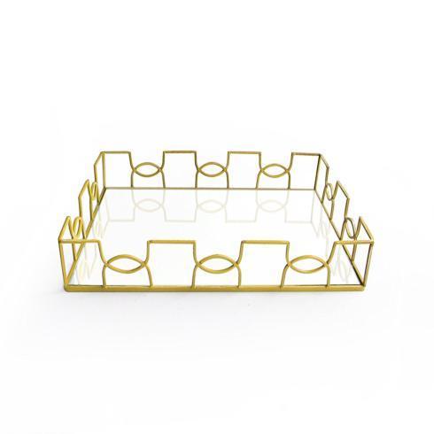 Napa Home & Garden   Gold Rectangular Mirrored Tray $100.00