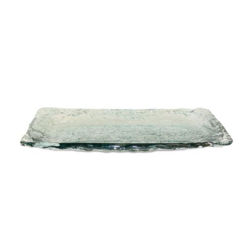 Pomeroy   Ruffle Glass Large Rectangular Platter $55.00