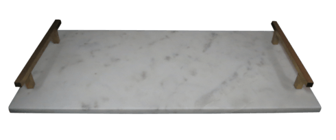 Generations Exclusives  Marble Marble Tray with Metal Handles $48.00