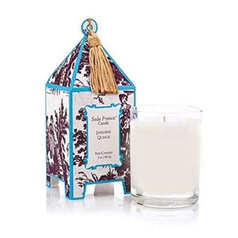 Seda France   Japanese Quince Classic Toile Pagoda Box Candle $35.00