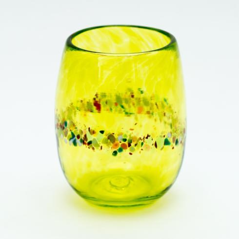 Yellow Stemless Wine Glass collection with 1 products