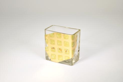 Tamara Childs   4 inch Checkered Vase $36.00