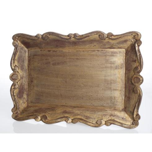 $120.00 Vendome Tray, Scallop Edge
