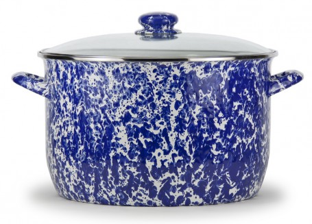 $136.50 Colbalt Swirl 18 QT Stock Pot