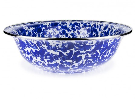 $42.00 Colbalt Swirl Serving Basin