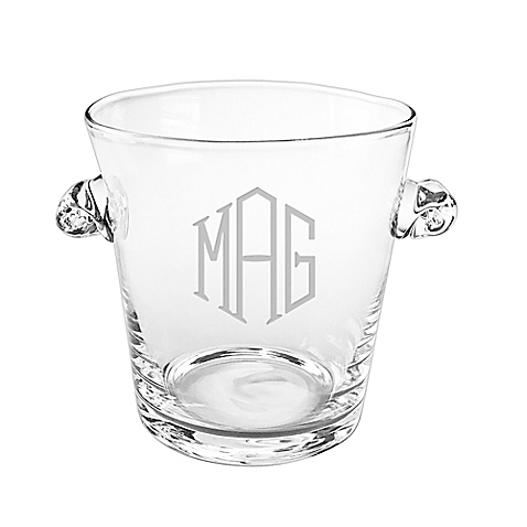 Susquehanna Glass   Monogrammed Ice Bucket $63.00