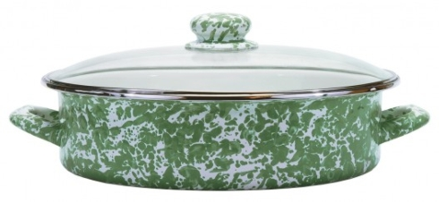 $59.00 Green Swirl Large Saute Pan