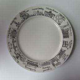 Galleria Riverside Exclusives  Historic Columbus Historic Columbus Cityscape Plate $34.00