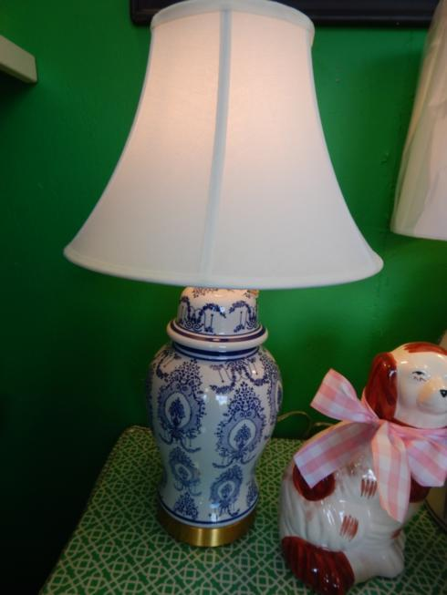 Galleria Riverside Exclusives  Lamps Blue and White Lamps $225.00