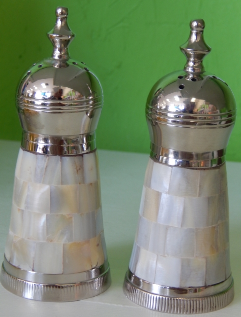Mother of Pearl Salt & Pepper Shakers