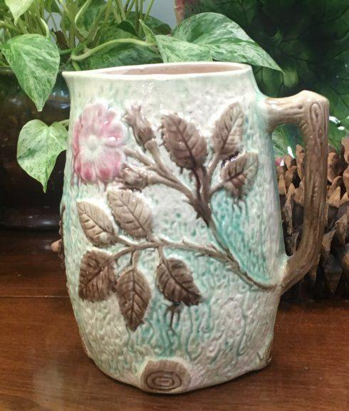 Galleria Riverside Exclusives  Wild Oak Antiques Majolica Pitcher $145.00