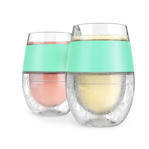$24.95 Set of Two Mint Wine Freeze Cups