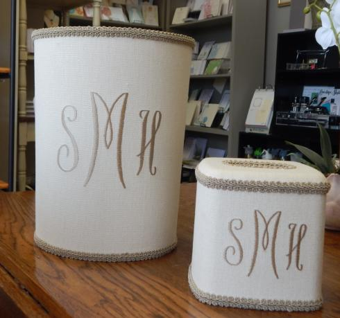 Monogrammed Trash Can