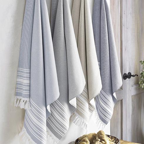$36.50 Monogrammed Fouta Bath Towel in Almond